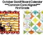 This 28 page SMARTBoard calendar is all you'll need to begin each day of October with a rigorous yet engaging start. It is aligned with CCSS. Commo...