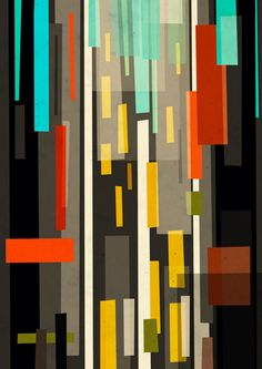 Straight Up New York abstract print by Yetiland