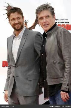 Buddies Gerard Butler and Craig Ferguson. Two hot Scots for the price of one. :)