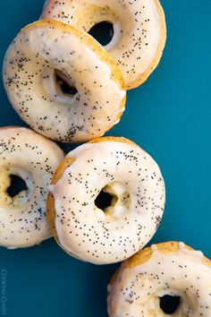 Baked Lemon Poppy Seed Doughnuts - they are AMAZING!!