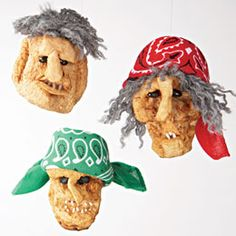 Shrunken pirate apple heads