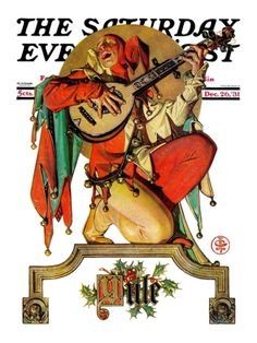"""Musical Jester"" By J.C. Leyendecker. Issue: December 26, 1931. ©SEPS. Giclee print available at Art.com."