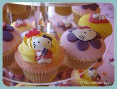 Hello Kitty Cupcakes by Scrumptious Buns (Samantha), via Flickr