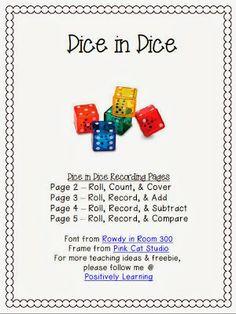 Classroom Freebies: Dice Games!