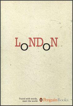 graphic design, bus, london, penguin books, graphicdesign