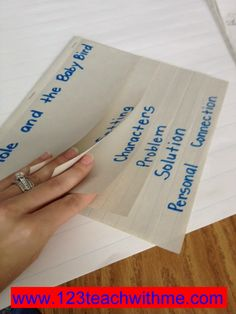 "1..2..3.. Teach With Me: ""Retell"" Flip Book: How to Make One....lots of pictures:)"