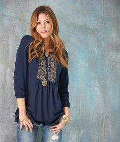 Love this Women's Easy Living Embroidered Knit Tunics The Lakeside Collection