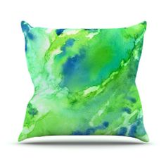 "Rosie Brown ""Touch of Blue"" Throw Pillow 