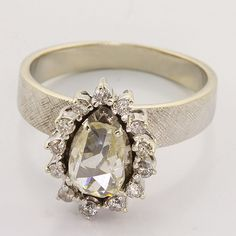 Rose Cut VS Diamond 14K White Gold Ring, $799.00.