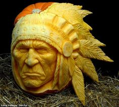 In the Halloween spirit, check out this Insane carved pumpkins by Ray Villafan...