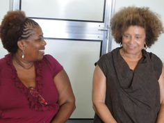 Valdecir Nascimento of the Odara Institute of Black Women with civil rights icon, Angela Davis. Davis recently voiced her support of the black Brazilian women's march, to happen in 2015.