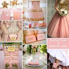 Pink and Gold Wedding Colors #nutcrackerwedding #weddinginspiration