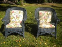 Pair of Large Bar Harbor Wicker Arm Chairs Circa 1920's