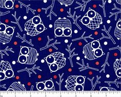 FABRIC HOOT OWLS by Out Front by DorothyPrudieFabrics on Etsy, $3.95