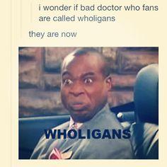 "Hahahahahahaahahahahahaa!!!  Anyone who calls it ""Dr. Who"" is a Wholigan!! <<---YES"