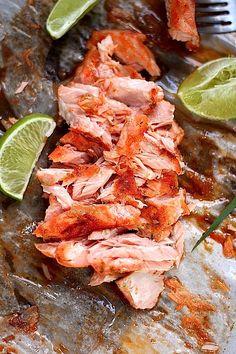 siracha, lime, brown sugar salmon