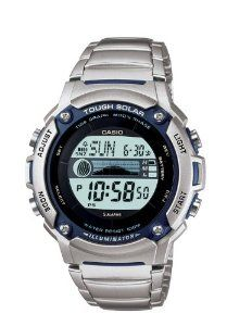 Casio Men's WS210HD-1AVCF Tough Solar Powered Tide and Moon Stainless Steel Watch $32.99