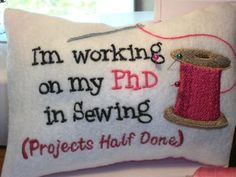 project half, pillow, sewing projects, quilt quotes, pin cushions, pincushion, sewing rooms, quilting quotes, craft rooms