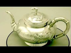 Video ... Chinese Export Silver Three Piece Tea Service - Antique Circa 1880 - AC Silver (W5199). More info here http://www.acsilver.co.uk/shop/pc/Chinese-Export-Silver-Three-Piece-Tea-Service-Antique-Circa-1880-75p3780.htm