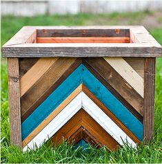 recycled wood planter box