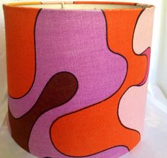 Fantastic 60s vintage mod lamp shade. Made in Sweden, great scandinavian pattern.