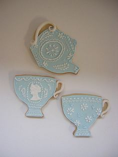 Wedgwood cookies by Osedo L Cakes, via Flickr