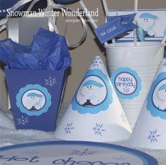 Winter Snowman Birthday Party winter parties, birthday parties, shops, birthdays, decorations, snowman winter, parti birthday, snowman birthday, winter birthday