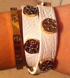 Cartier and Tory Burch bracelets