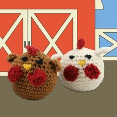 Valley Yarns 426 Crocheted Chickens Kit (Free Pattern)