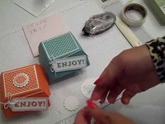 Tips to assemble the Hamburger Box Die by Stampin' UP!