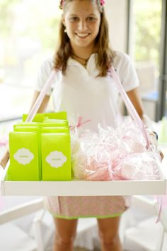 Kids Birthday Party Ideas: Pink and Green Girlie Carnival Birthday Girl Blog feature
