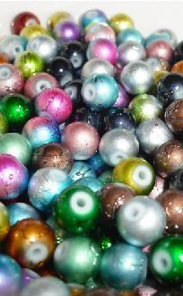 100 Frosty Glass Beads 8MM *free ship*