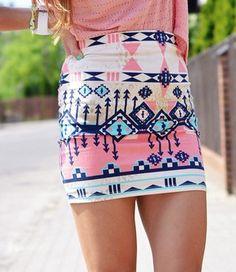 Tribal skirt / bershka
