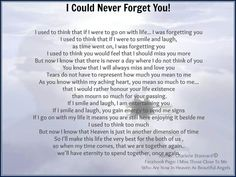 I could never forget you!