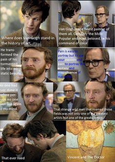 artists, vans, favorit episod, doctorwho, scene, doctor who, doctors, vincent van gogh, eyes