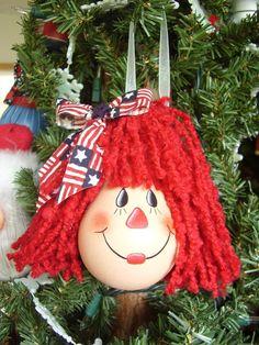 Raggedy Ann Lightbulb Ornament
