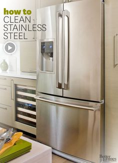 Make your stainless steel appliances sparkle with these helpful cleaning tips. Watch the video here: http://www.bhg.com/videos/m/74499403/how-to-clean-stainless-steel.htm?socsrc=bhgpin012614stainlessvid