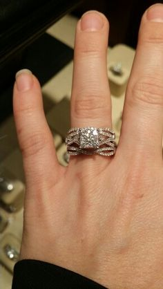 My wedding and engagement ring!!!!! Love love