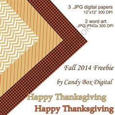 FREE: Our Fall 2014 Mini-Kit from Candy Box Digital on TeachersNotebook.com -  (7 pages)  - Our new Fall Freebie mini-kit with 3 digital papers for Twitter and blog backgrounds, digital scrapbooks and paper crafts is now available!