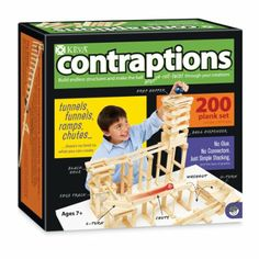 Amazon.com : MindWare KEVA Contraptions : Toy Interlocking Building Sets : Toys & Games