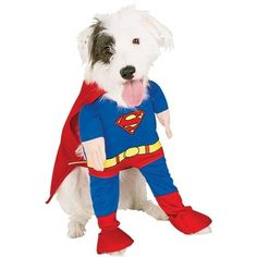 extra large breed halloween costumes | Rubie's Superman Dog Costume - Extra Large