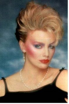 1980's I tried so hard to pull off this look!