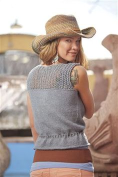 Westwood Blouse - #Knitting Daily, great summer knitting.