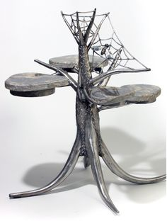 SPIDERS LAIR TABLE: Keith Raivo: Metal Side Table - STUDIO SALE | Artful Home