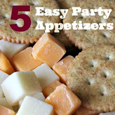 Here are five easy, budget friendly party appetizers that will be great for the next holiday gathering. No stress appetizers are often the best and most popular.