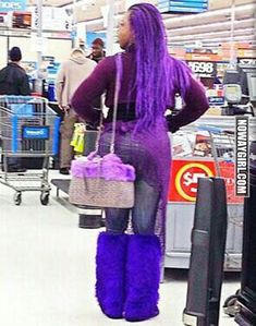Shes All Purple Everything Up In Walmart - NoWayGirl