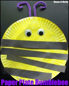 Paper Plate Bumblebee - House of Burke