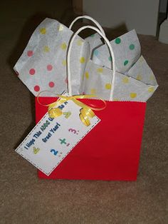 I wanted to give my kids a cute gift when they come to meet the teacher, but I didn't want to spend a ton of money!