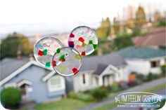 Easy and Fun Suncatchers - good gifts from the kids - rainy day fun great summer project must try! :: ecrafty