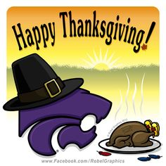 Thanksgiving K-State Powercat posted on my Robel Graphics Facebook page.
